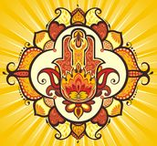 Main de Hamsa illustration stock