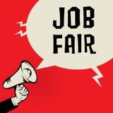 Main de mégaphone, concept d'affaires avec le texte Job Fair illustration libre de droits