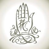 Main de magie de Palmistry Images stock