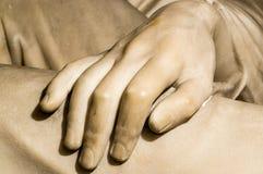 Main de marbre Images libres de droits