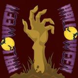 Main de monstre de Halloween Images stock
