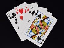 Main de poker deux paires images libres de droits