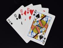 Main de poker trois d'une sorte Photo stock