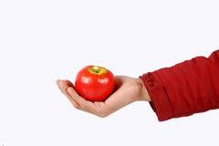 main de pomme Photo stock