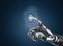 Main de robot avec l'affichage graphique