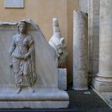 Main de statue colossale de Constantine, musée de Capitoline, Rome Images libres de droits