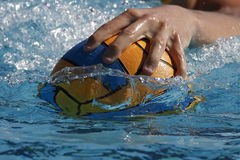 Main de Waterpolo Photographie stock
