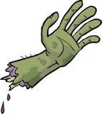 Main de zombi de bande dessinée Photo stock