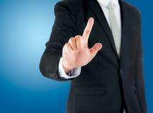 Main debout d'exposition de posture d'homme d'affaires Images stock