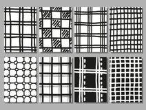 Main dessinant des textures à carreaux de vecteur illustration de vecteur