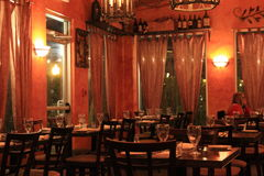 Main dining area of wonderful Italian restaurant,Limoncello,Saratoga,New York,2016 Royalty Free Stock Images