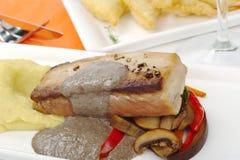 Main Dish: Tuna with Mashed Potato Royalty Free Stock Photo