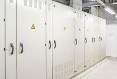 Main distribution room. For electricity power royalty free stock photos