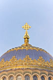 The main dome with a cross naval Cathedral Royalty Free Stock Photo