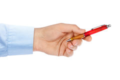 Main donnant le crayon lecteur Photographie stock libre de droits