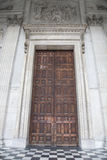 Main Door and Entrance of St Pauls Cathedral; London Stock Image