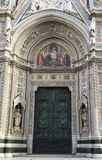 Main door of Florence Cathedral Duomo Santa Maria del Fiore. In Florence, Italy stock images