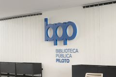 Public library medellin biblioteca pública piloto Opening Day December 2018 royalty free stock photography