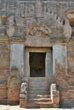 The main door. Nathlaung Kyaung temple. Bagan. Myanmar. Bagan is an ancient city located in the Mandalay Region of Myanmar, capital of the Pagan Kingdom Royalty Free Stock Images
