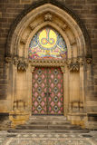 Main door of neo-gothic Basilica Stock Photography