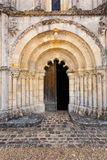 Main door of Petit Palais et Cornemp romanesque church Gironde F Stock Photos