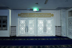 Main door of Puncak Alam Mosque at Selangor, Malaysia Royalty Free Stock Images