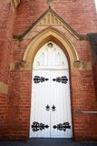 Narrandera – St John Uniting Church. Main door of the St John Uniting Church in Narrandera, New South Wales, Australia stock photos
