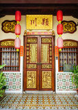 Main door of the temple at Georgetown in Penang, Malaysia Stock Photo