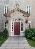 Main Door to Ursulines Monastery of Quebec Royalty Free Stock Photo