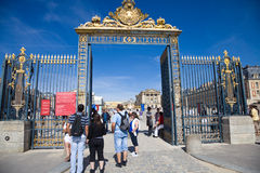 Main door of Versailles Chateau stock photography