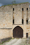 Main doors of Eguilly Castle Stock Photo