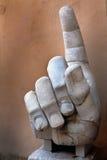 Main droite du colosse de Constantine Photos libres de droits