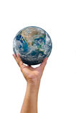 Main droite très haute de la terre Images libres de droits