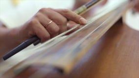 Main du ` s de Madame jouant le violoncelle clips vidéos