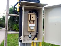 Main electrical switching control in Thailand Stock Photography