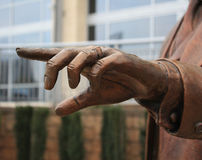 Main en bronze photo libre de droits