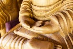 Main en gros plan découpée de Bouddha Images libres de droits