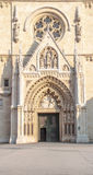Main enter and elements facade of the cathedral Royalty Free Stock Images