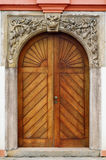 Main Entrance. Old Wooden Door. Main Entrance To The House Royalty Free Stock Photo