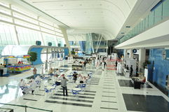 Main Entrance at Abu Dhabi International Hunting and Equestrian Exhibition (ADIHEX) Royalty Free Stock Images