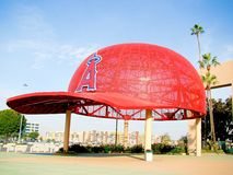 The main entrance of Angel Stadium Royalty Free Stock Photography