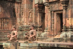 Main entrance of ban teay srei temple 1 Royalty Free Stock Photography