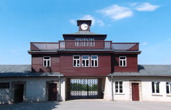 Main entrance of the Buchenwald concentration camp near Weimar, Germany Royalty Free Stock Photo