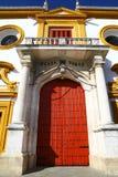 Main entrance of Bullring in Sevilla, Spain Royalty Free Stock Photos