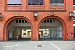 Main entrance of the car factory OPEL Royalty Free Stock Image
