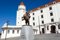 Main entrance of the castle in Bratislava Stock Photo