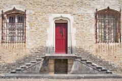 The main entrance of the Castle Kleron (fr.Château de Cléron). Royalty Free Stock Image
