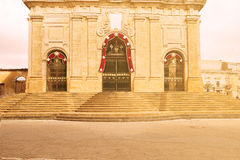 Main entrance of the Cathedral in Enna Sicily royalty free stock image