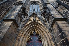 The main entrance of Cathedral Royalty Free Stock Photo
