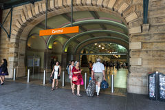 Main entrance central Railway station Sydney Stock Photo